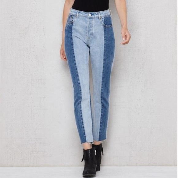 Pacsun two tone mom jeans. M 5acae98e05f430fbc0d23849 d6c3bc7c7